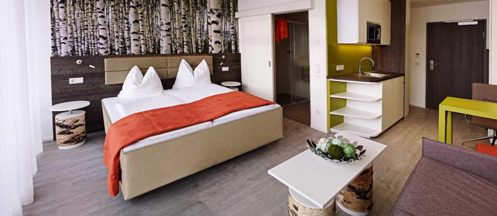 Zimmer des Eco Suite Hotels